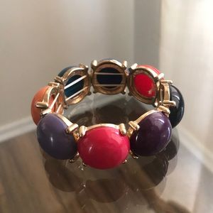 J Crew Colorful Chunky Bracelet